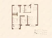 B1户型-3室2厅1卫
